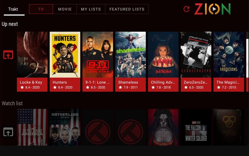 TV Zion v4 app new UI