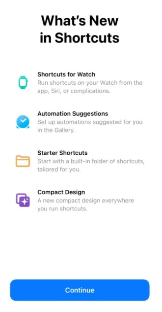 What's new shortcuts iOS 14