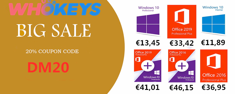 WHOkeys Autumn SALE Windows 10 PRO OEM KEY