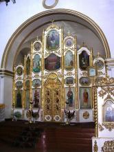 Иконостас церкви св.Димитрия Ростовского в г. Бийске