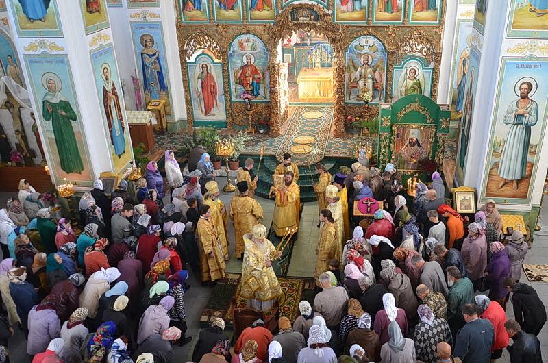 Богослужение церкви св.Димитрия Ростовского села Пушкино Дубинского района Липецкой области