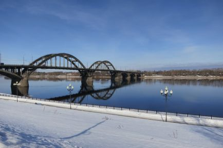 Мост через Волгу в Рыбинске