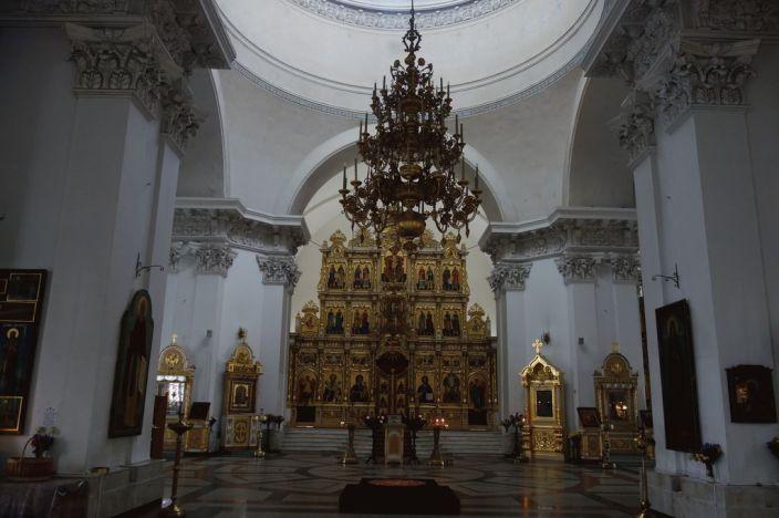 Интерьер Спасо-Преображенского собора. Центральный придел