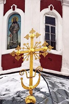 Образ св. Димитрия на барабане церковной главы
