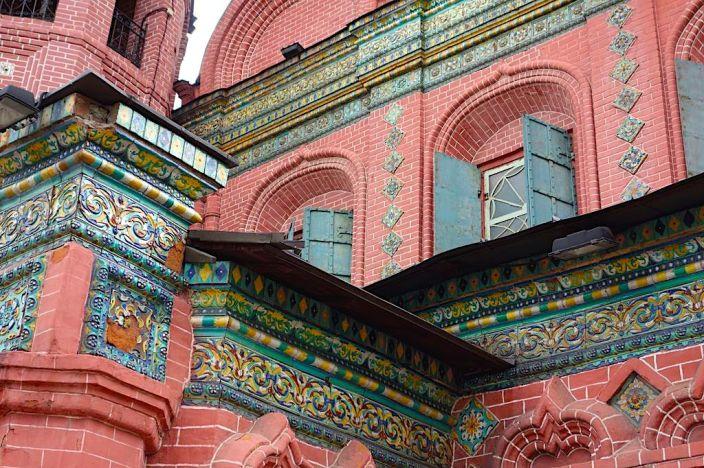 Нарядный декор Богоявленского храма г. Ярославля