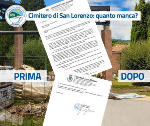 Cimitero di San Lorenzo: la risposta dell'Amministrazione