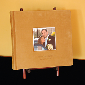 matted album with cameo and suede cover