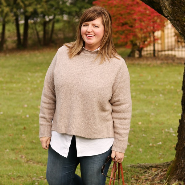 Chunky Sweater on a Curvy Girl | Break a few style rules