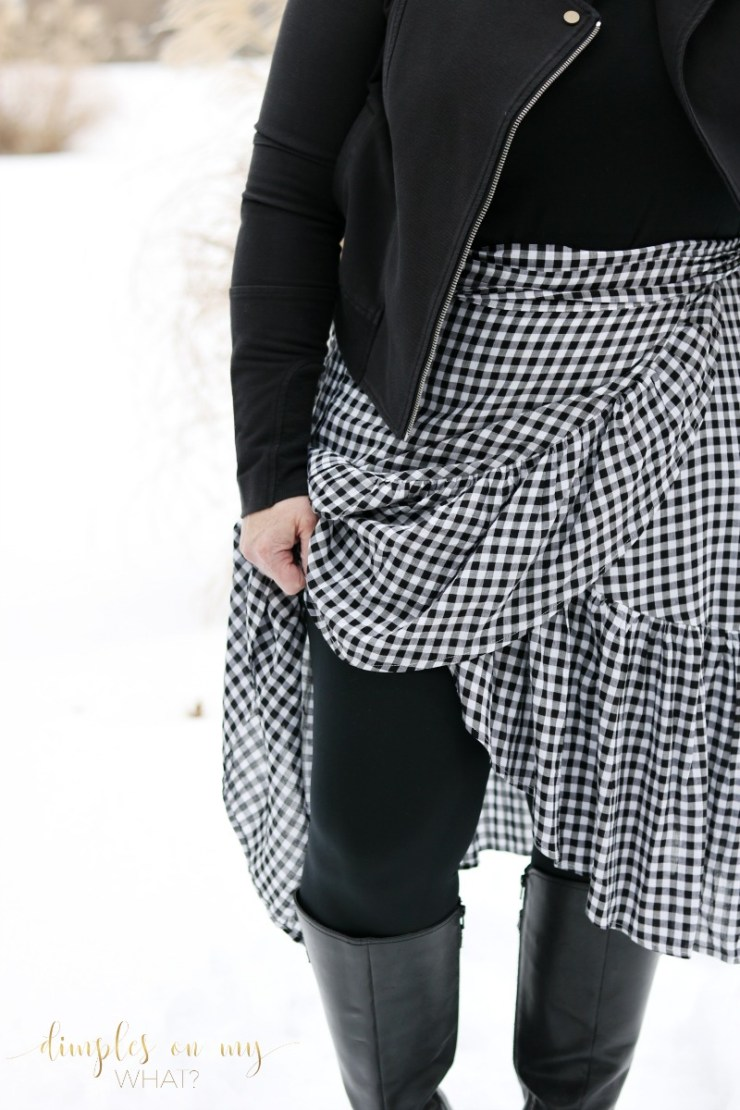 Fashion over 50 \ Curvy fashion \ Gingham Wrap Skirt