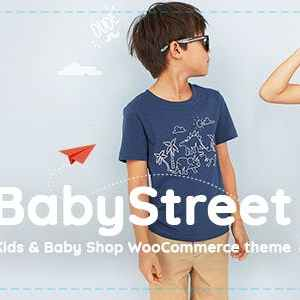 JUAL BabyStreet - WooCommerce Theme for Kids Stores and Baby Shops Clothes and Toys