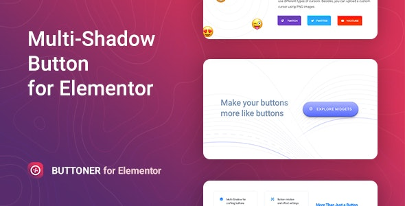 JUAL Buttoner - Multi-shadow Button for Elementor
