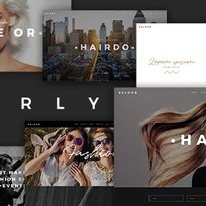 JUAL Curly - A Stylish Theme for Hairdressers and Hair Salons