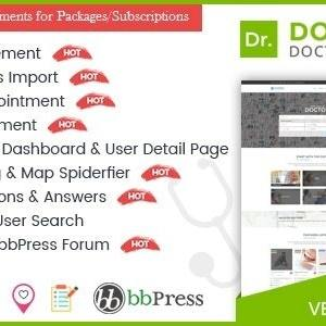 JUAL DocDirect - WordPress Theme for Doctors and Healthcare Directory