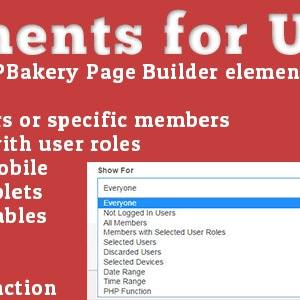 JUAL Elements for Users - Addon for WPBakery Page Builder (formerly Visual Composer)