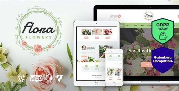 JUAL Flowers Boutique and Florist WordPress Theme