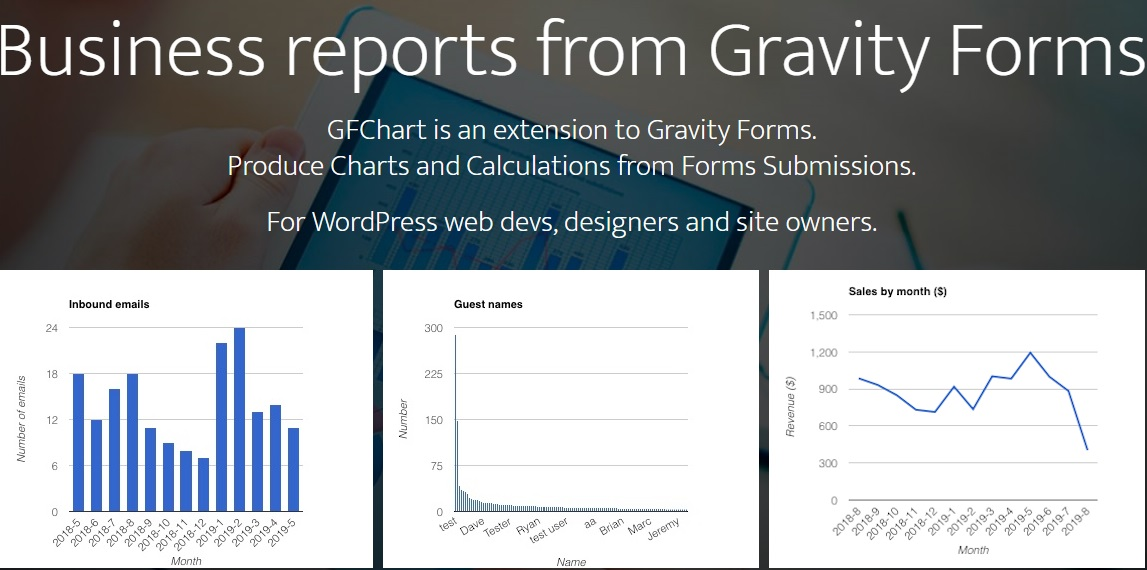 JUAL GFChart - Business reports from Gravity Forms