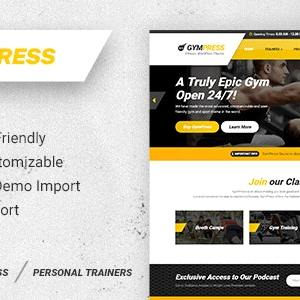JUAL GymPress - WordPress theme for Fitness and Personal Trainers