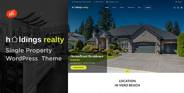 JUAL Holdings Realty - Single Property Theme