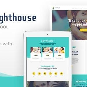 JUAL Lighthouse - School for Handicapped Kids with Special Needs WordPress Theme