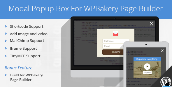 JUAL Modal Popup Box For WPBakery Page Builder