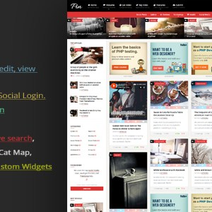 JUAL Pin = Pinterest Style / Personal Masonry Blog / Front-end Submission