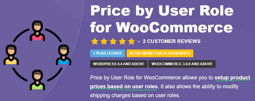 JUAL Price based on User Role for WooCommerce Pro by Tyche Softwares