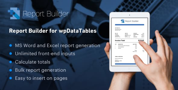 JUAL Report Builder add-on for wpDataTables