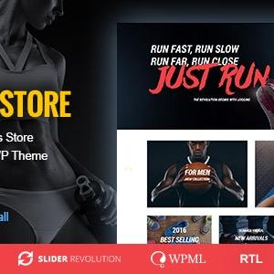 JUAL Sports Store - Sports Clothes & Fitness Equipment Store WP Theme