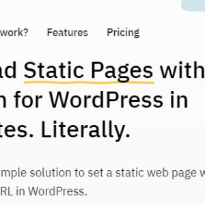 JUAL Static HTML - Upload Static Pages With Plugin For WordPress in Minutes