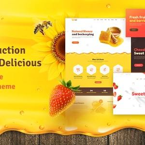 JUAL SweetMielo - Honey Production and Sweets Delicious WP Theme