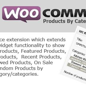 JUAL WC Products By Category Widget