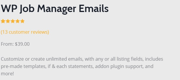 JUAL WP Job Manager Emails Add-on