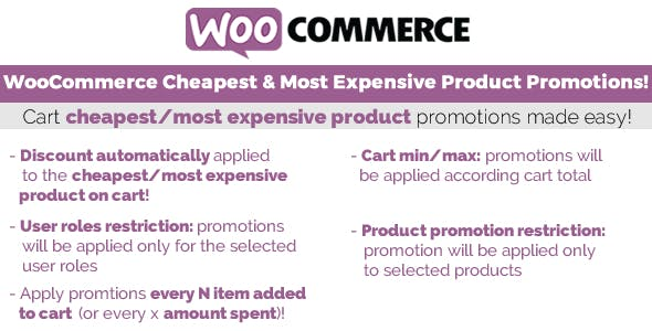 JUAL WooCommerce Cheapest & Most Expensive Product Promotions!
