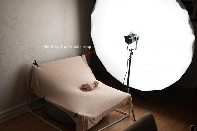newborn photography studio lighting