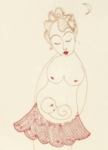 Schwangerenpostkarte