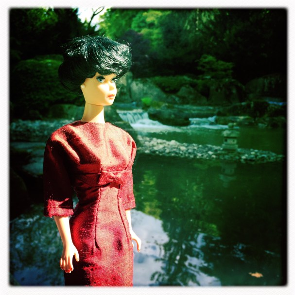 Barbie Vintage Red Dress by Dinahs Dolls
