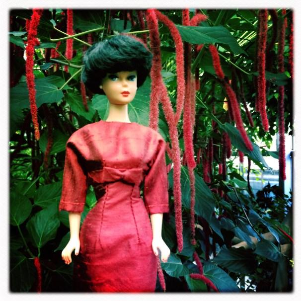 Dinahs Dolls Red Vintage Barbie Dress