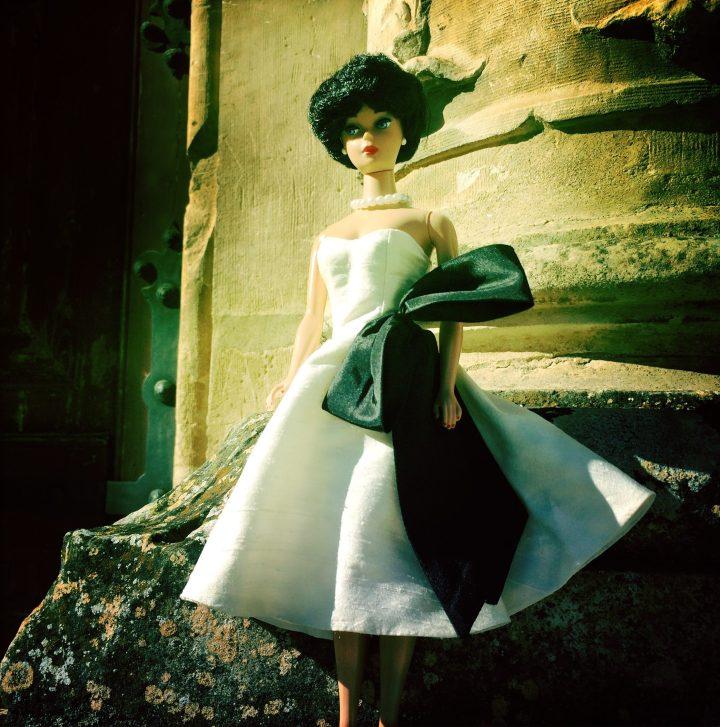 Dinahs Dolls White Vintage Barbie Dress