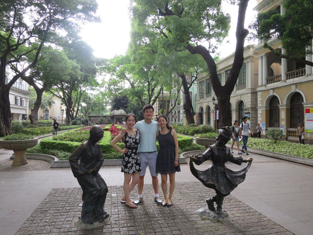 At Shamian Island in Guangzhou with Jenfay and Jimmy—I learned some Cantonese from them!