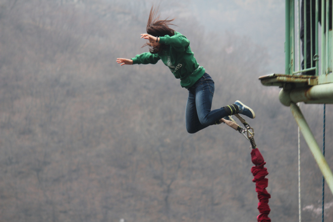 My First Time Bungee Jumping [Video]