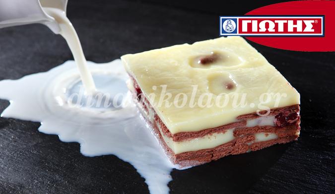 Γλυκό ψυγείου με κρέμα και μπισκότα