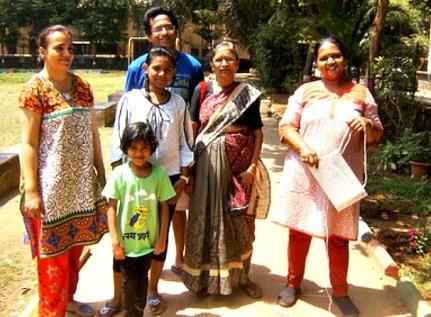 Children with their parentsns