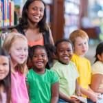 Teacher-Students-Children-School-Library
