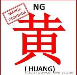 Asal usul marga Ng / Marga Huang