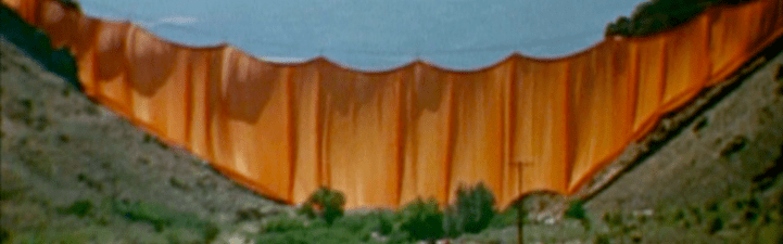Christo's Valley Curtain (1974) film still | a film by Albert Maysles, David Maysles and Ellen Hovde, USA, 1974, 16mm, 28 mins, color, sound