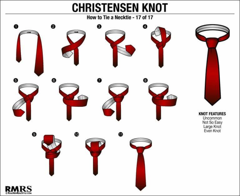 tutorial cara memakai dasi Christensen knot dengan bentuk unik