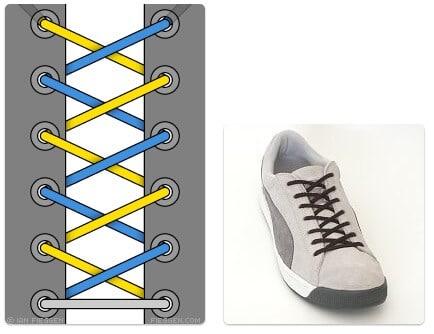 cara mengikat tali sepatu keren unik mudah dan gaul Display Shoe Lacing