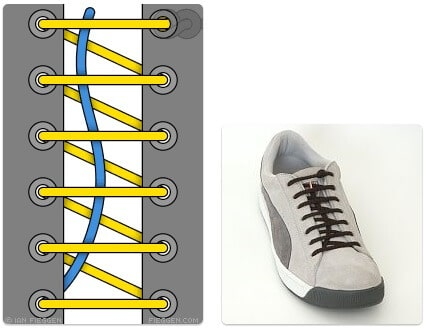 cara mengikat tali sepatu keren unik mudah dan gaul One Handed Lacing