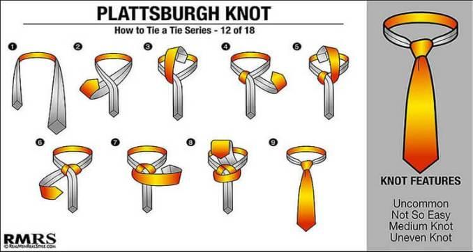 tutorial cara memakai dasi plattsburgh knot simpel mudah praktis termudah untuk pemula
