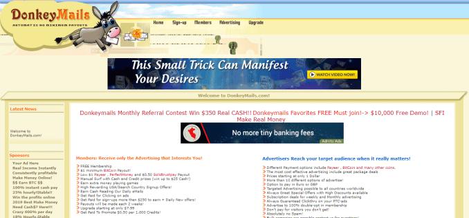 donkey mails website situs penghasil uang yang menghasilkan dolar melalui paypal